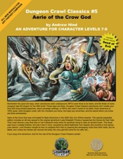 Role Playing Games - Dungeon Crawl Classics #5: Aerie of the Crow God