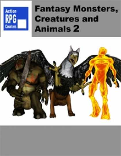 Role Playing Games - Action RPG Counters - Fantasy Monsters, Creatures and Animals 2