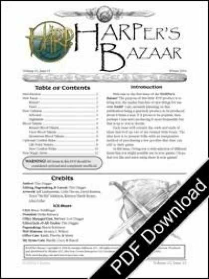 Role Playing Games - HARPer's Bazaar Vol #1 Issue #9