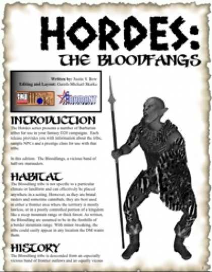Role Playing Games - HORDES: The Bloodfang