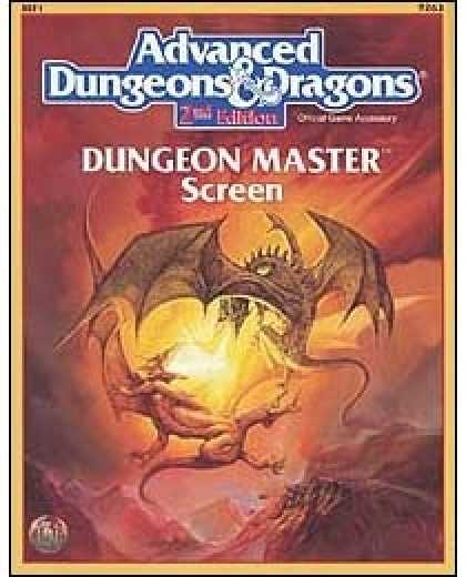 Role Playing Games - 2nd Edition AD&D Dungeon Master's Screen