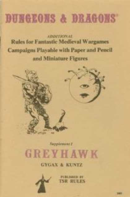 Role Playing Games - Supplement I: Greyhawk