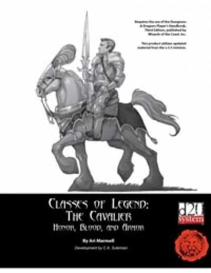 Role Playing Games - Lion's Den Press: Classes of Legend -- The Cavalier