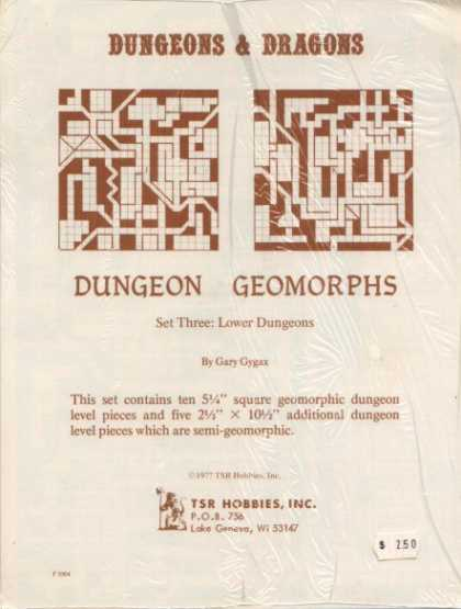 Role Playing Games - Dungeons & Dragons Lower Dungeons