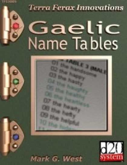 Role Playing Games - Gaelic Name Tables