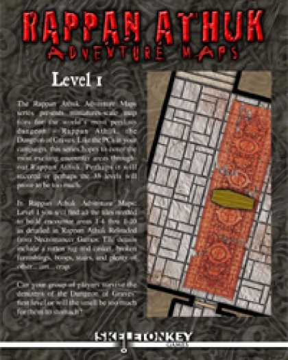 Role Playing Games - Rappan Athuk Adventure Maps: Level 1