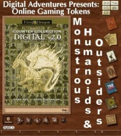 Role Playing Games - Online Gaming Tokens Pack #9: Monstrous Humanoids & Outsiders