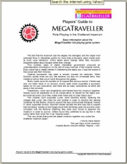 Role Playing Games - DTRPG Guide to MegaTraveller