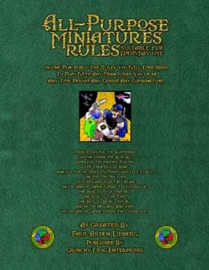 Role Playing Games - All-Purpose Miniatures Rules