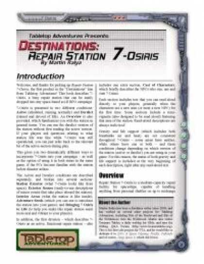 Role Playing Games - Destinations: Repair Station 7-Osiris