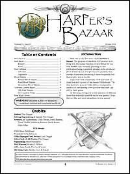 Role Playing Games - HARPer's Bazaar Vol #1 Issue #4