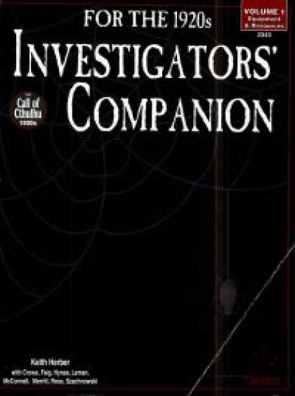 Role Playing Games - Investigator's Companion Vol. I