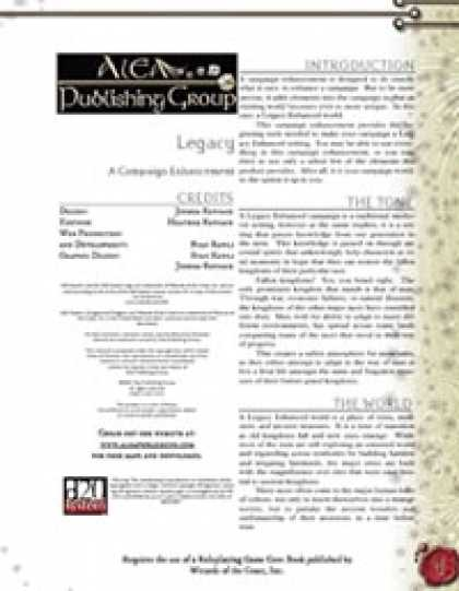 Role Playing Games - Legacy: Campaign Enhancement ($1.00)