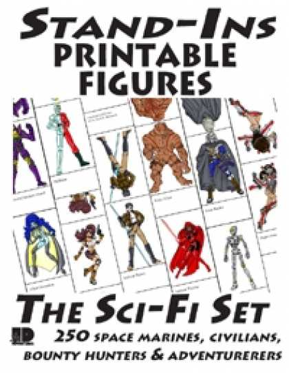 Role Playing Games - Stand-Ins Printable Figures - Sci-Fi Set #1