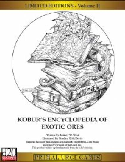Role Playing Games - Limited Editions - Kobur's Encyclopedia of Exotic Ores