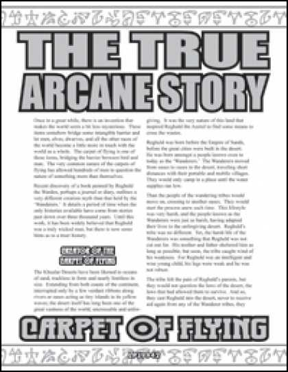 Role Playing Games - The True Arcane Story: Carpet of Flying