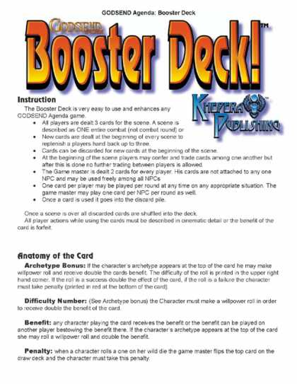 Role Playing Games - GODSEND Agenda Booster Deck