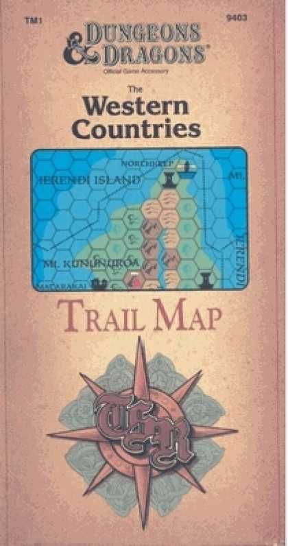 Role Playing Games - Western Countries Trail Map