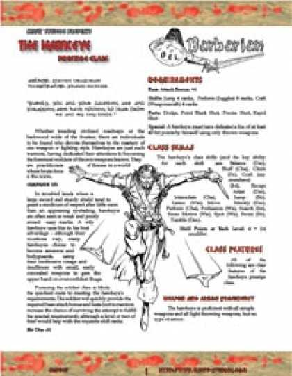 Role Playing Games - OGL Barbarian: The Hawkeye (Sampler)