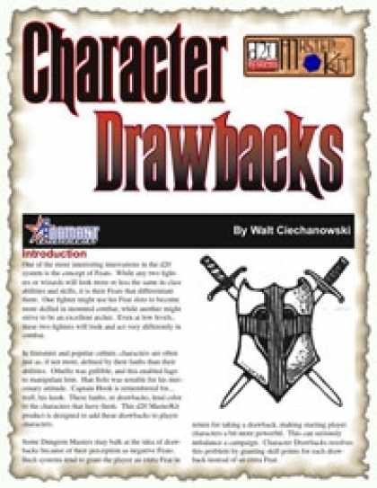 Role Playing Games - Character Drawbacks