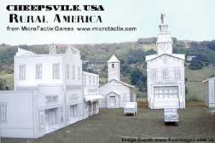 Role Playing Games - Cheepsville USA Rural America Commercial cardstock buildings