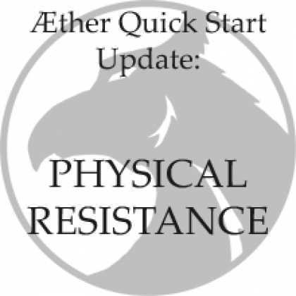Role Playing Games - Quick Start Update - Physical Resistance