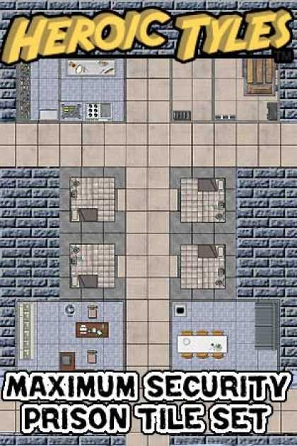 Role Playing Games - Heroic Tyles Maximum Security Prison Set