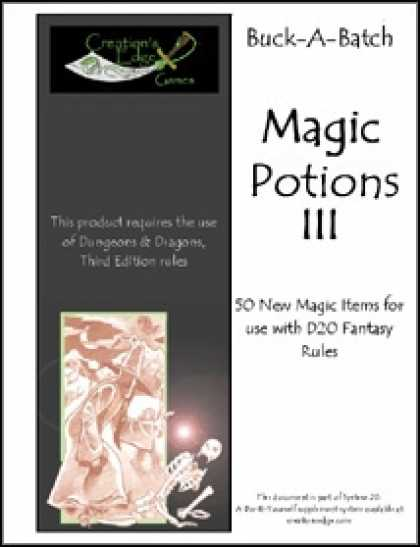 Role Playing Games - Buck-A-Batch: Magic Potions III