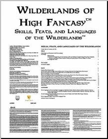 Role Playing Games - Skills, Feats, and Languages of the Wilderlands