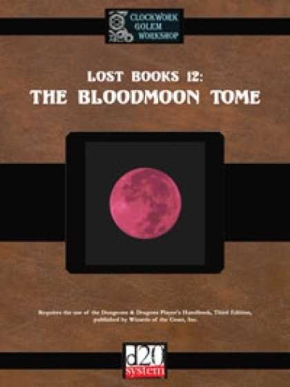 Role Playing Games - Lost Books 12: The Bloodmoon Tome