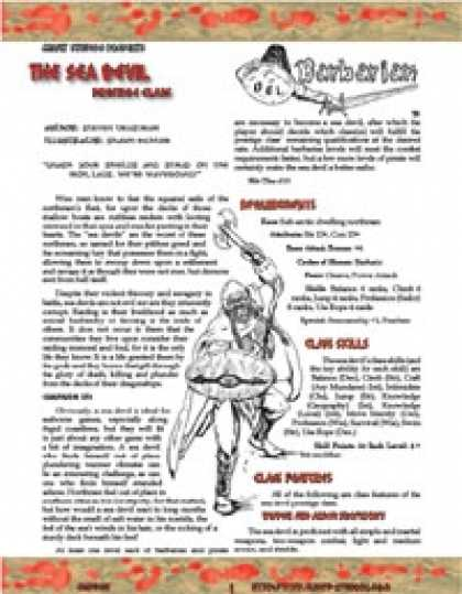 Role Playing Games - OGL Barbarian: The Sea Devil (Sampler)