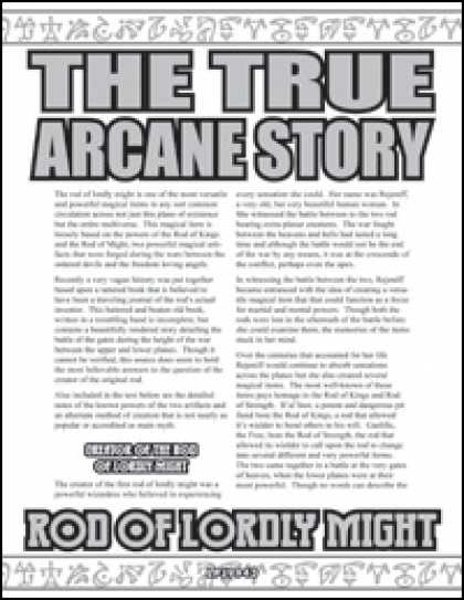 Role Playing Games - The True Arcane Story: Rod of Lordly Might