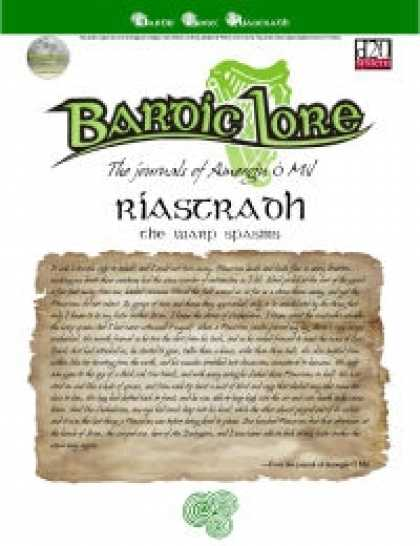 Role Playing Games - Bardic Lore: Riastradh