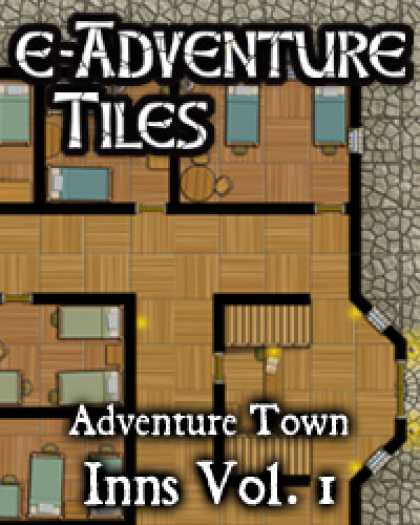 Role Playing Games - e-Adventure Tiles: Adventure Town Inns Vol. 1