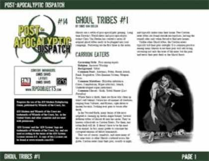 Role Playing Games - Post-Apocalyptic Dispatch (#14): Ghoul Tribes #1