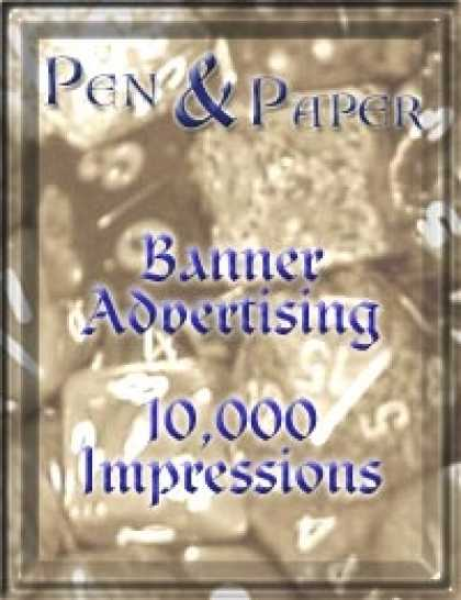 Role Playing Games - Pen & Paper Advertising - 10,000 Impressions