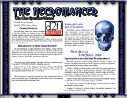 Role Playing Games - The Necromancer: The Core Specialist Wizard