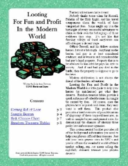 Role Playing Games - Looting for Fun and Profit