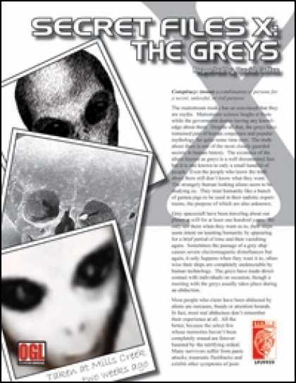 Role Playing Games - Secret Files X: The Greys