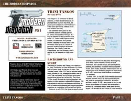 Role Playing Games - Modern Dispatch (#51): Trini Tangos