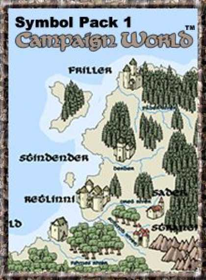Role Playing Games - Symbol Pack 1: Campaign World (for Fractal Mapper)