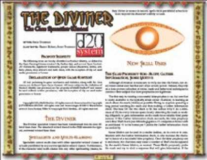 Role Playing Games - The Diviner: The Core Specialist Wizard