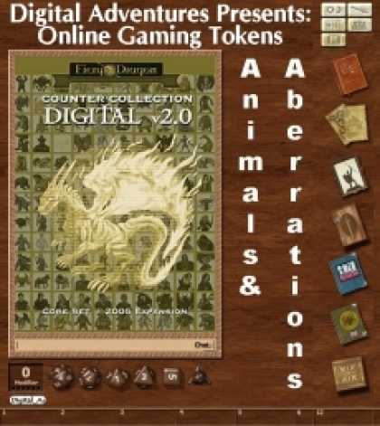 Role Playing Games - Online Gaming Tokens Pack #1: Animals & Aberrations