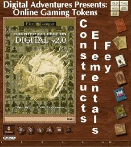 Role Playing Games - Online Gaming Tokens Pack #7: Constructs, Elementals, & Fey