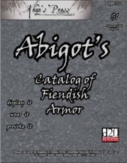 Role Playing Games - Abigot's Catalog of Fiendish Armor