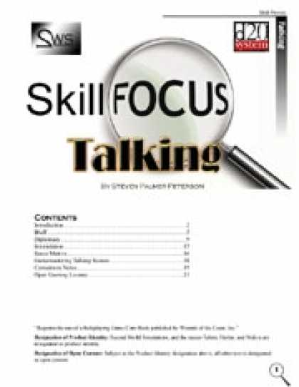 Role Playing Games - Skill Focus: Talking
