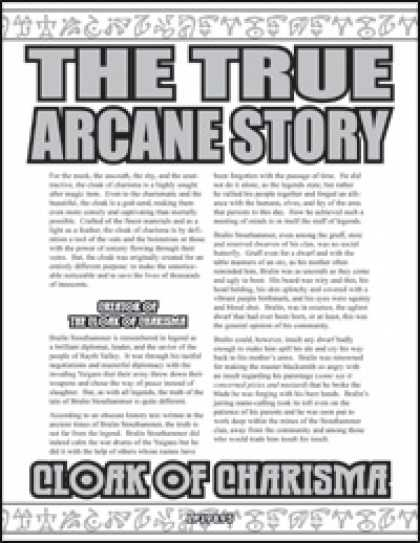 Role Playing Games - The True Arcane Story: Cloak of Charisma