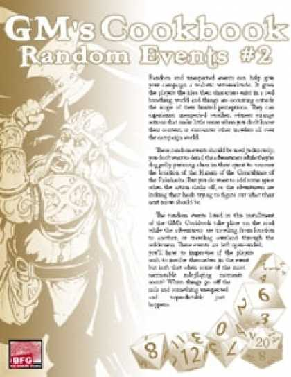 Role Playing Games - GM'S COOKBOOK: Random Events #2