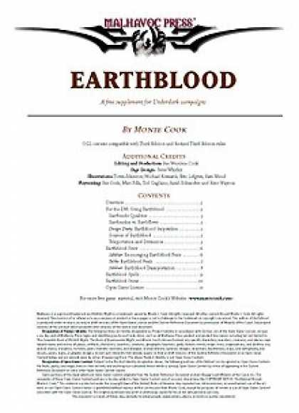 Role Playing Games - Earthblood