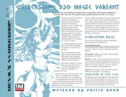 Role Playing Games - Overcasting: d20 Magic Variant
